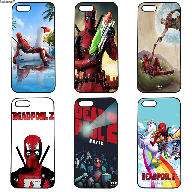 Super Cool Marvel Deadpool Cell Phone Case Black Hard PC Cover for iphone 8 7 6 6S Plus X 5S 5C 5 SE 4 4S iPod Touch 4 5 6 Shell