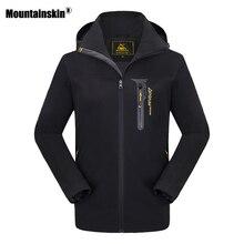 Mountainskin 8XL Новая осень весна Для мужчин куртка Куртка из искусственной кожи PU софтшелл с капюшоном Для женщин верхняя одежда Для мужчин s брендовая одежда SA423