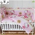 6 шт. Комплект постельного белья для малышей cama bebe paracolpi lettino unpick Комплект для мытья кроватки комплект детской кроватки (4 бампера + лист + наво...