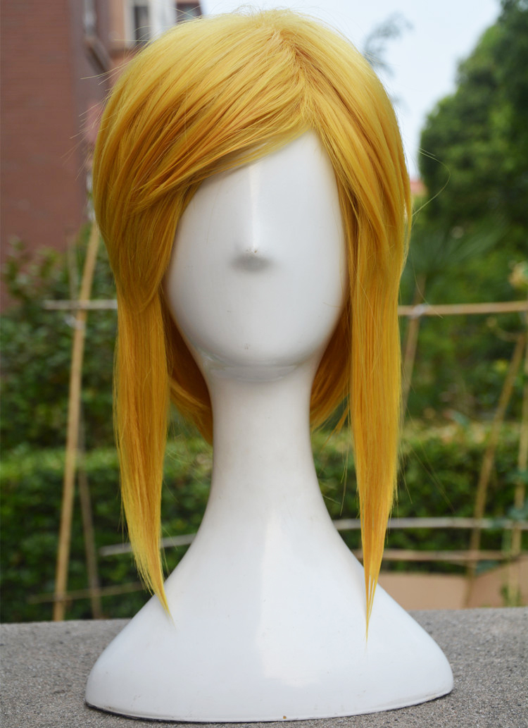 Game Cosplay Wig Link Wig Cosplay the Legend of Zelda Role Play Golden Color Halloween Concert