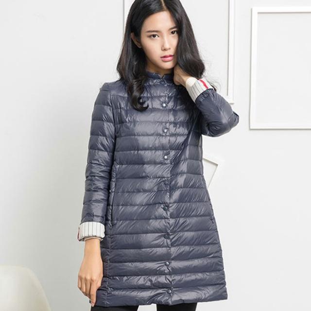 1PC Thin Down Jacket Winter Coat Women Winter Coat Women Long Coats Outerwear Parka Chaquetas Mujer Manteau Femme Z009
