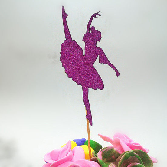 online shop 1pc multi colors birthday cake flag topper dancing girl
