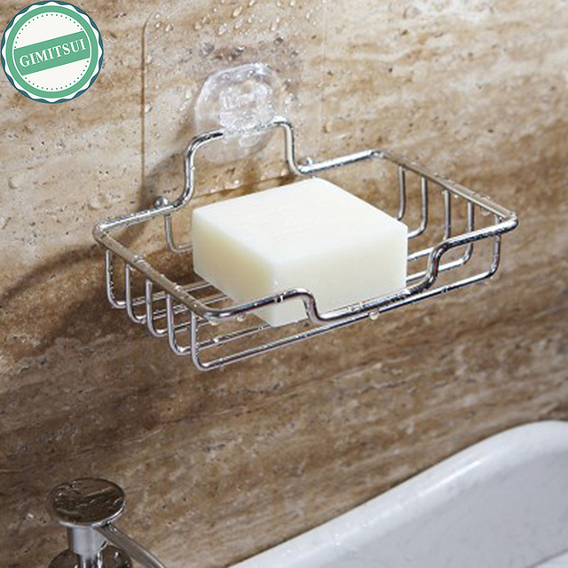 Stainless Steel Non Rust Bathroom Accessories Shower Soap Rack Dish Holder  Wall Mounted Soap Stand