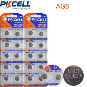 Image 1 - 2 kart/20 adet PKCELL AG6 pil SR920SW SR69 SG6 371 605 1.5V alkalin düğme piller para celi izlemek için
