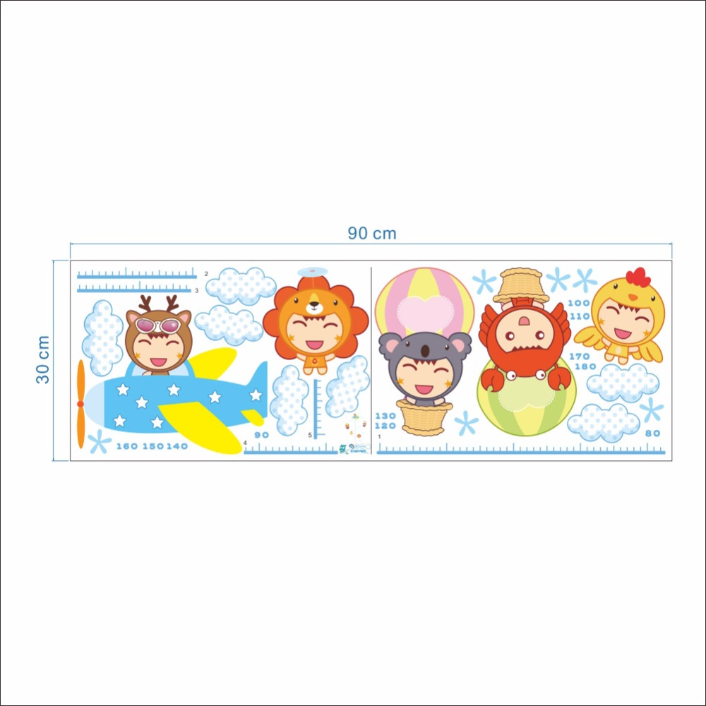 Cartoon baby amusement park wall stickers kids boys girls height cartoon baby amusement park wall stickers kids boys girls height growth chart wallpaper poster art nursery decoration wall decal in wall stickers from home geenschuldenfo Gallery