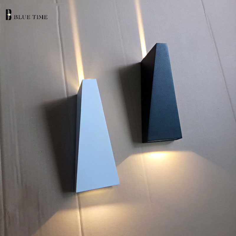 New Modern Led Wall Light For Living Room Bedroom 10w Sconce Black White Color Indoor Home Decoration Lamp Fixture In Lamps From Lights