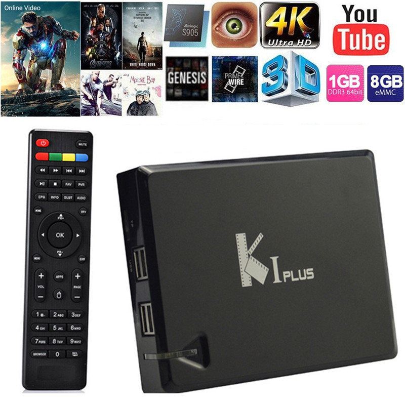 KI Plus K1 PlusT2 S2 Android 5.1 Amlogic S905 Quad Core 64-bit TV BOX Support DVB-T2 DVB-S2 Support Ccamd Newcamd 1G/8G k1 dvb s2 android 4 4 2 amlogic s805 quad core tv box