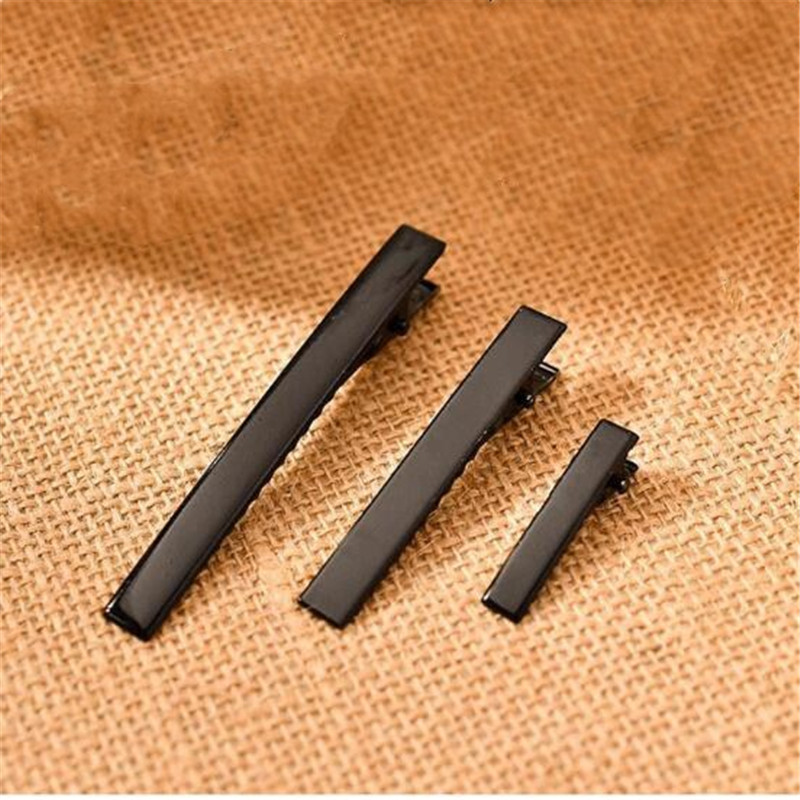 Modest 10pcs 32/35/40/45/55/65/75mm Length Black Hair Jewelry Settings Blank Bases For Diy Alligator Clip Hairpins Jewelry Findings To Suit The PeopleS Convenience Beads & Jewelry Making