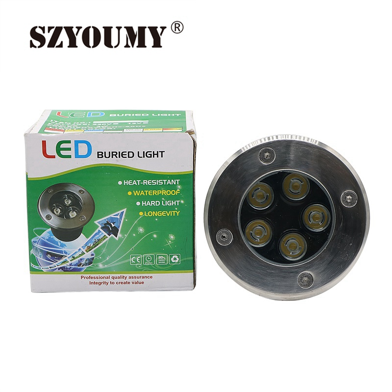 Constructive Szyoumy Led Underground Light Waterproof 5w Ground Garden Path Floor Lamp Outdoor Underground Buried Yard Lamp Landscape Light High Quality Goods Led Lamps