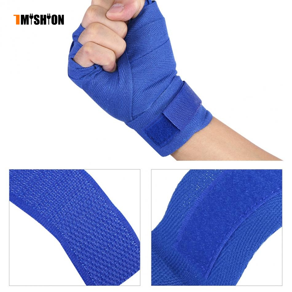 2PCs/Set Support Cotton Bandage Hand Protector Wraps Straps Hand Gloves Wrist Bandage For Boxing Kickboxing Support Braces
