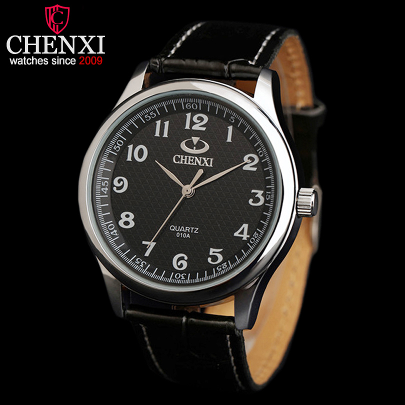 CHENXI Brand font b Top b font font b Luxury b font Leather Strap Man Watches
