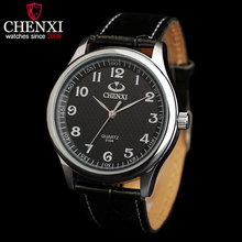 CHENXI Brand Top Luxury Leather Strap Man Watches Fashion Round Dial Gentleman Wristwatch Delicate Waterproof Quartz Male watch