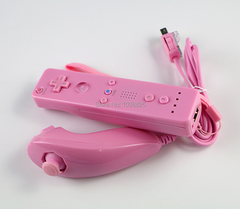 10sets/lot 2 in1 Remote Nunchuck Combo Built in MOTION PLUS for Nintendo Nintend for Wii left and right Controller
