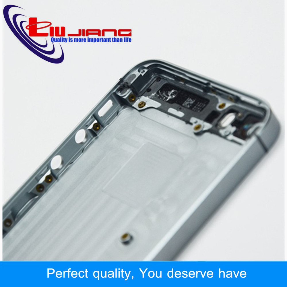 Liujiang New For iPhone 5 SE 5S Back Battery Cover Rear Door Housing Case Middle Chassis Replacement For iPhone 5S Back Housing