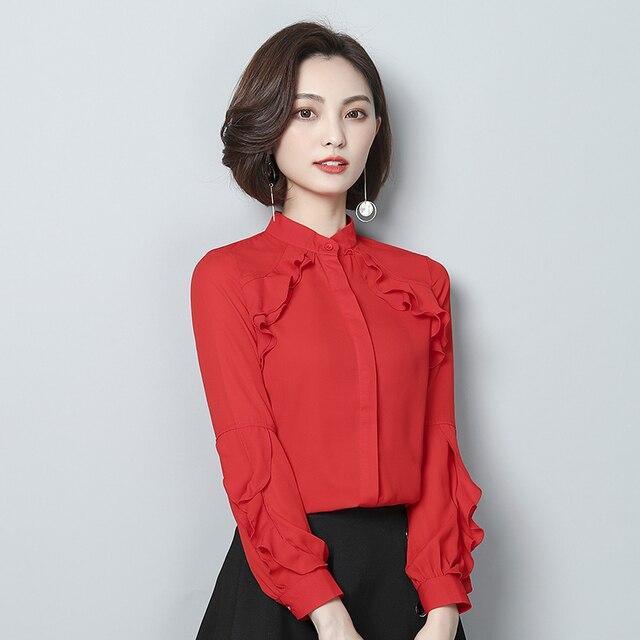 4c26aea68c7 2018 New Spring Women Shirts Chiffon Han Fan Design Feeling All Western  Style Clothing Blouse Shirt