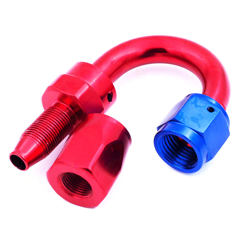 Collection Here An8 180 Degree Aluminum Hose End Fitting Adapter Push On Lock Hose End For Oil Fuel Hose Line