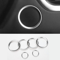 Car Styling ABS Matte Door Audio Speaker Cover Decorative Circle Ring Trims Frame For Land Rover Discovery Sport 2016 2017 2018