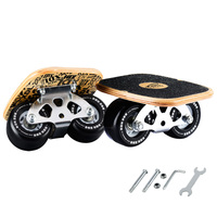 CHI YUAN Freeline Pro Skates Drift Skate Plates with Pu Wheels Maple Deck