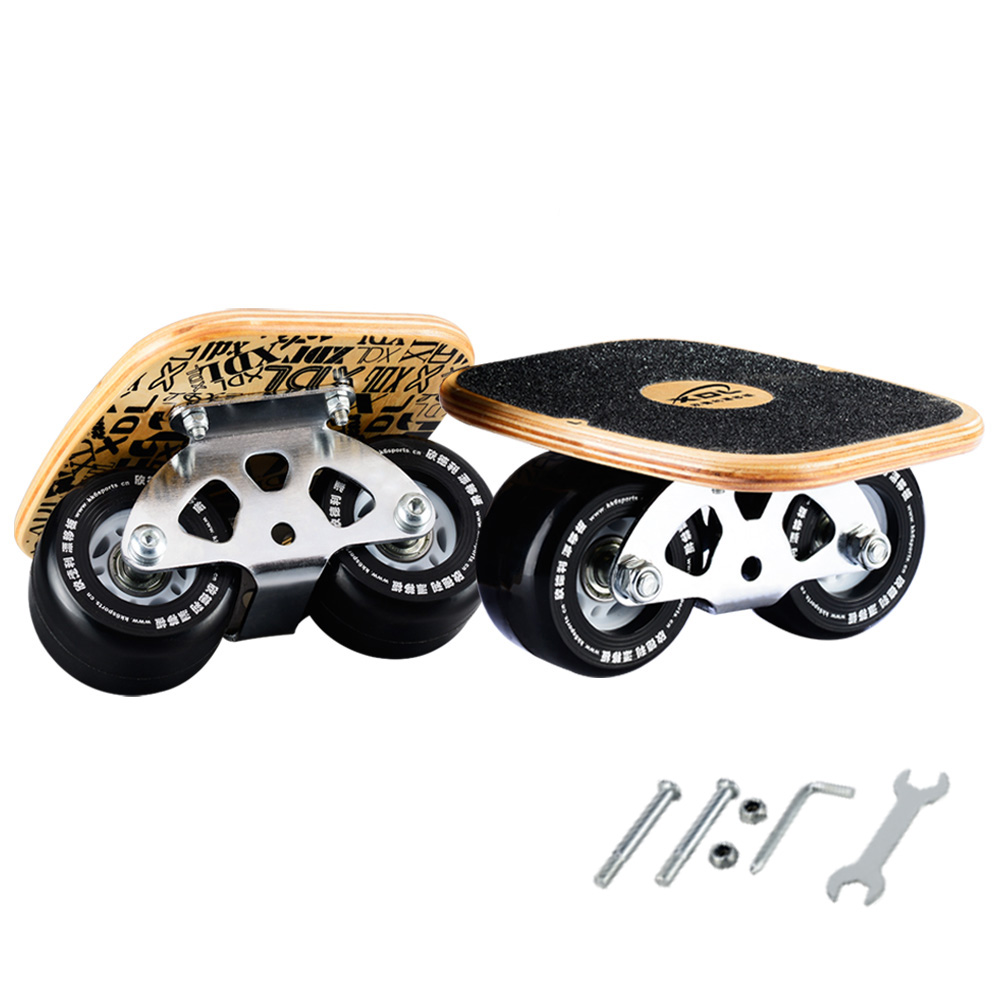 Freeline Pro Skates Drift Skate Plates with Pu Wheels Maple Deck
