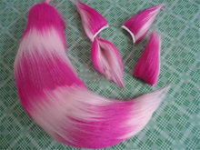 Halloween Party Fox Tail Ear Sexy Animal Anime Cosplay Accessories Free Shipping Style Able Rose Red Mix + Ears