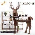 ¡ NUEVO! J & E Ciervos decoración del hogar mesa de café De Madera REY II auto-construcción de rompecabezas muebles