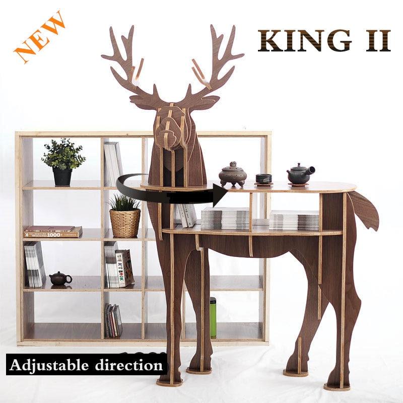 Fa szarvas otthoni dekorációs dohányzóasztal KING II. Önálló - Bútorok - Fénykép 2