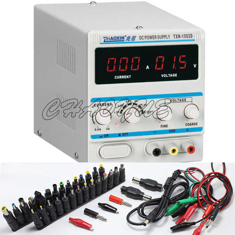ФОТО ZHAOXIN TXN-1502D Adjustable DC Power Supply 15V 2A Power Cable zhaoxin + 39 in 1 Conversion head