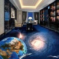 Free Shipping Flooring Moisture Proof Self Adhesive Kids Bedroom Galaxy Earth 3D Bathroom Living Room Kitchen