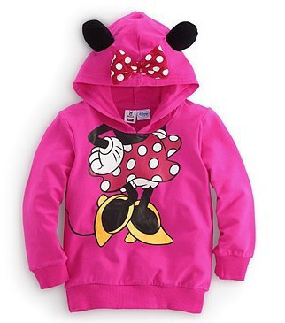 2016 Autumn Baby Clothing Children Boy Girls Sweater Hoodies Sweatshirts Hooded Cute Cartoon Printed Outerwear Jacket Kids Coat