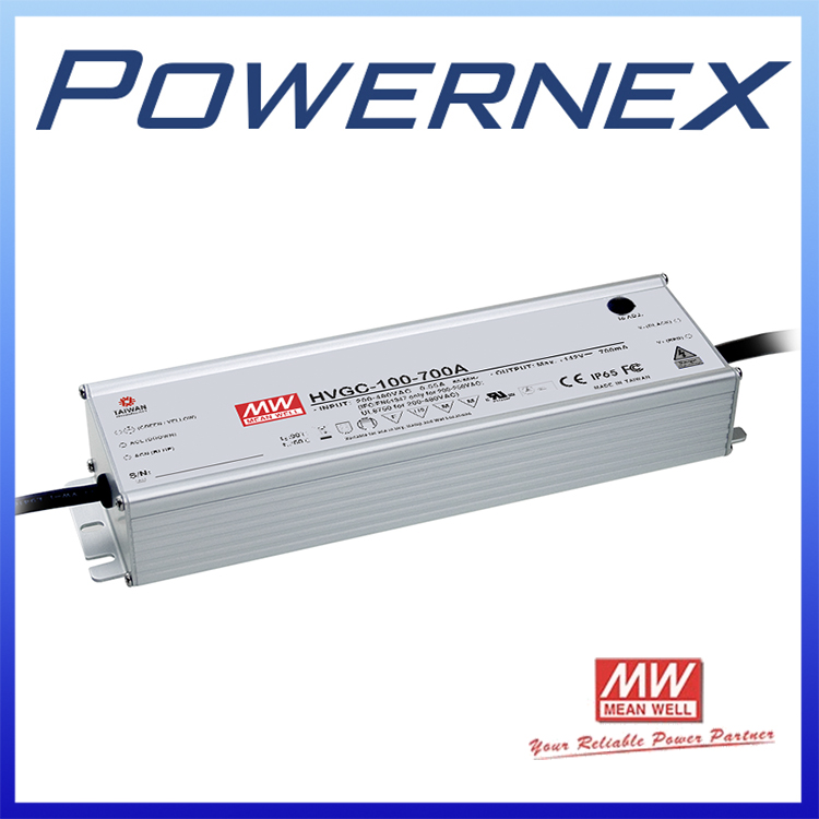 [PowerNex] MEAN WELL original HVGC-100-700A 15 ~ 142V 700mA meanwell HVGC-100 99.4W Single Output LED Driver Power Supply A Type mean well hvgc 150 350a 42 428v 350ma meanwell hvgc 150 149 8w singleoutput led driver power supply a type