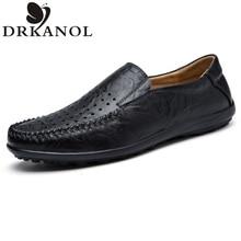 Men's Flats Shoes Genuine Leather Comfortable Breathable Business Dress Men Shoes Leather Brand Luxury Shoe Flats Big Size 38-45