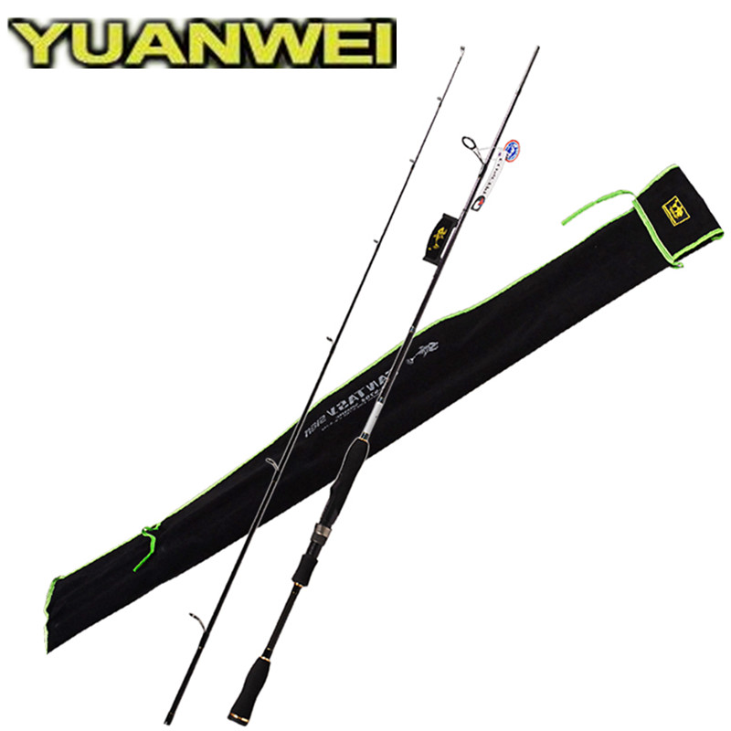 YUANWEI Spinning Fishing Rod 2 Sec 1.8m 2.1m 2.4m ML/M/MH IM8 Carbon99% Lure Rods Vara De Pesca Olta Spinning Rods Canne A Peche