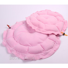 Lovely, soft cotton dog bed in blue and pink colors