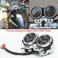 Motorcycle Gauge Speedometer Odometer Tachometer Assy  for CB400 1992 1993 1994