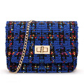 Sacos de mulheres mensageiro designer de cadeia de retalho de mini sacos de embreagem saco da noite do sexo feminino de lã 2014 new star estilo bolsas bolsos femininas