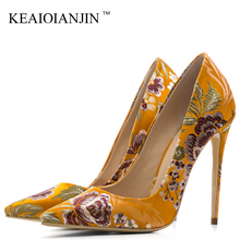KEAIQIANJIN Woman Silver Embroider Pumps Stiletto Plus Size 33 43 Wedding High Heels Shoes Party Sexy Silk Blue Valentine Shoes cocoafoal woman silver high heels shoes stiletto plus size 33 43 44 wedding silver gold pumps pointed toe sexy valentine shoes