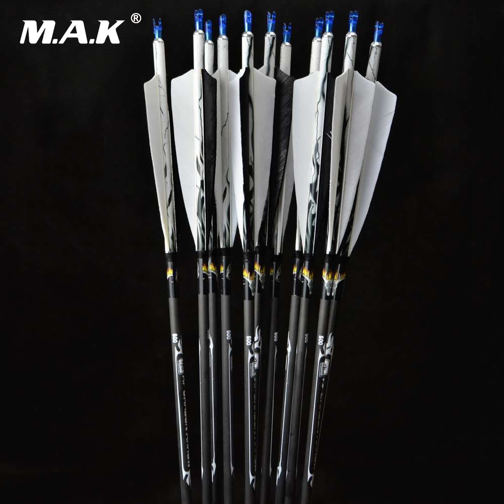 6/12/24pcs 31 Carbon Arrows Archery Turkey Feathers 7.5mm Spine 500 Change Arrowhead For Compound Bow Arrow Hunting Shooting государственная символика флаг гребень 5 видов