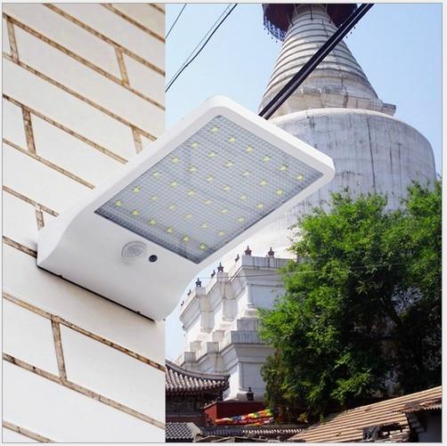 3PCS 20LED Solar Lamp PIR Human Motion Sensor Light Solar Power Light Udendørs Path Courtyard Wall Lamp Sikkerhed Spot Lighting