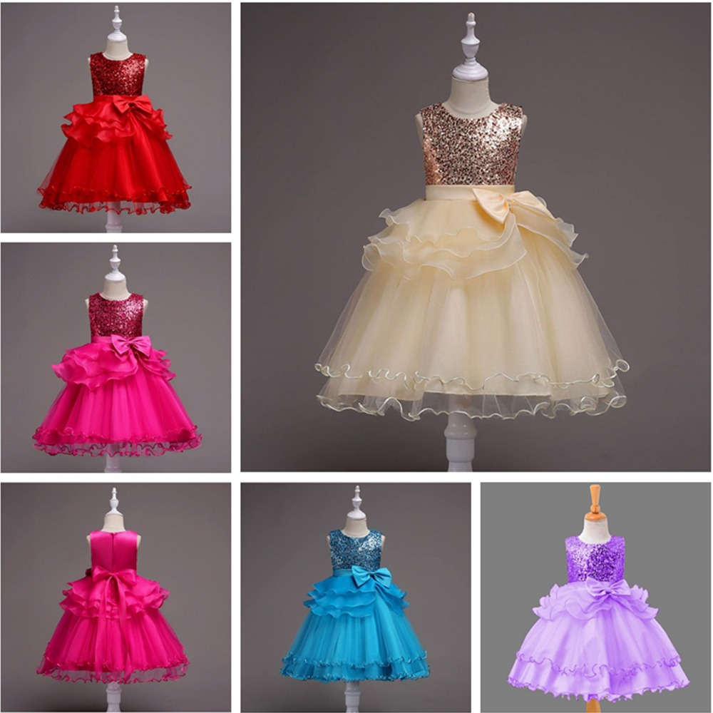 Girls Dress Sequin Organza Sleeveless Princess Dresses Party Costume 3 4 5 7 9 11 Years plus size sleeveless sequin panel belted dress