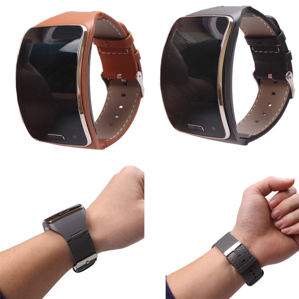 Genuine leather Watch Wrist Strap Band For Samsung Gear S SM-R750 Smart Replacement Accessories Sporting Goods accessories