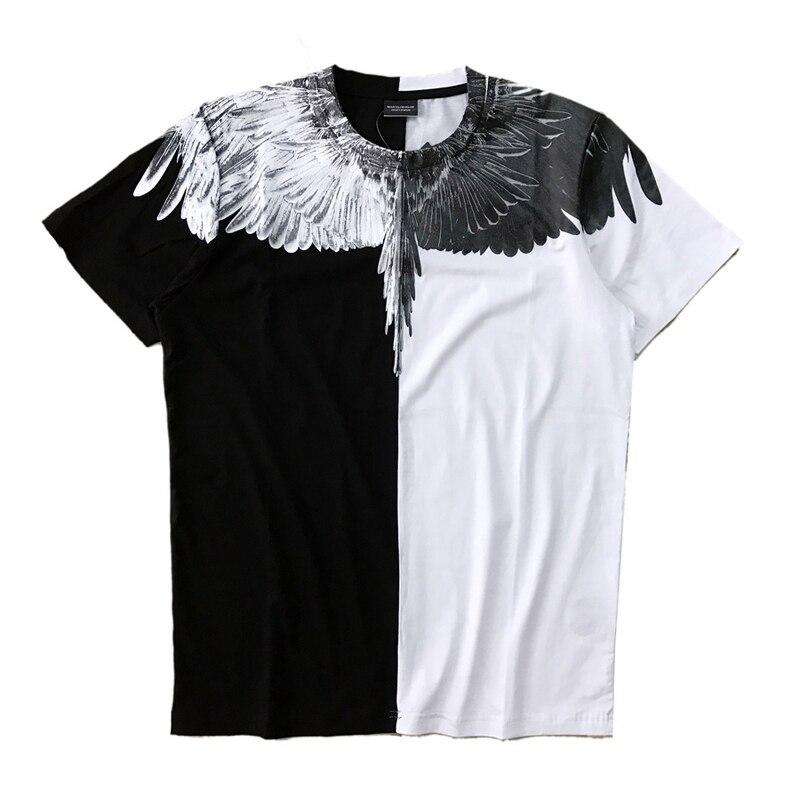 Marcelo Burlon T-shirt Estate Moda Streetwear Piuma Marcelo Burlon Top Tees T-Shirt 18SS Italia Milano Ali Marcelo Burlon