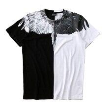 T-shirts Summer Fashion Streetwear Feather Marcelo Burlon Top Tees