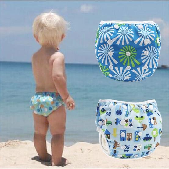 neonati bambini ragazzi ragazze costumi da bagno regolabile pannolini per bambini riutilizzabili costume da bagno neonato costum