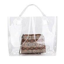 d0c6af856 2019 bolso de mano de PVC transparente playa bolso de hombro de las mujeres  nueva tendencia