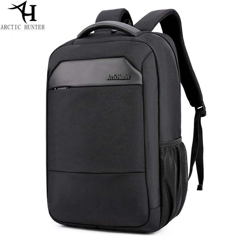 Casual business men's computer backpack Multifunction Large Capacity Laptop backpack 15.6 Waterproof black youth bagpack