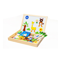 Baby Learning Educational Wooden Toys Puzzle Jigsaw Board Animal Scene Whiteboard Matching Enlightenment Kids Gifts 4046
