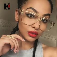 SHAUNA Vintage 9 Colors Men Square Sunglasses Brand Designer Fashion Women Half Frame Gradient Lens Shades