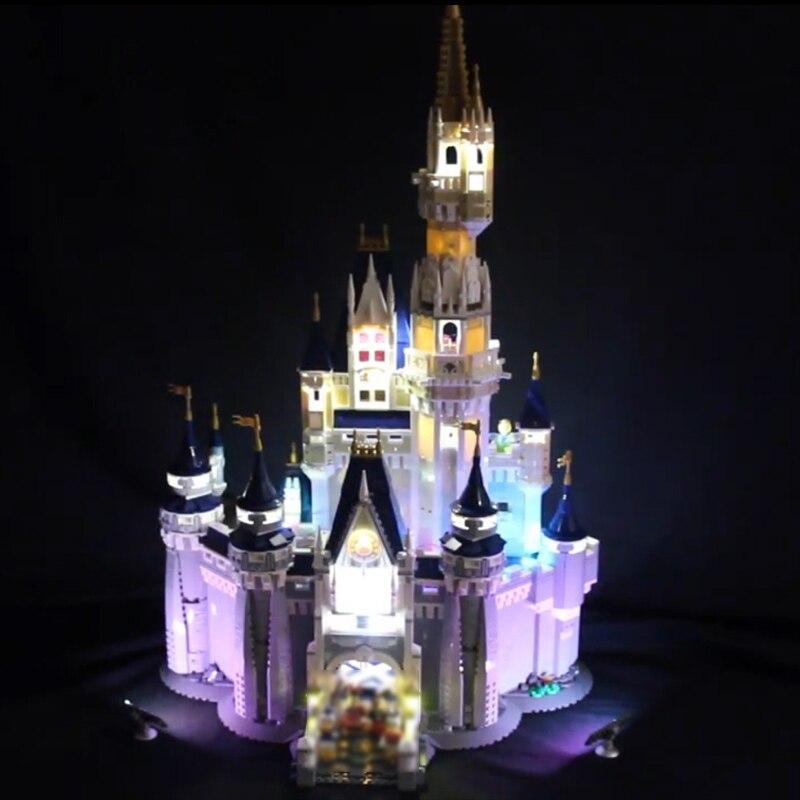 Led Light For Lego 71040 Creative City Cinderella Princess Castle Compatible 16008 Building Blocks Toys only