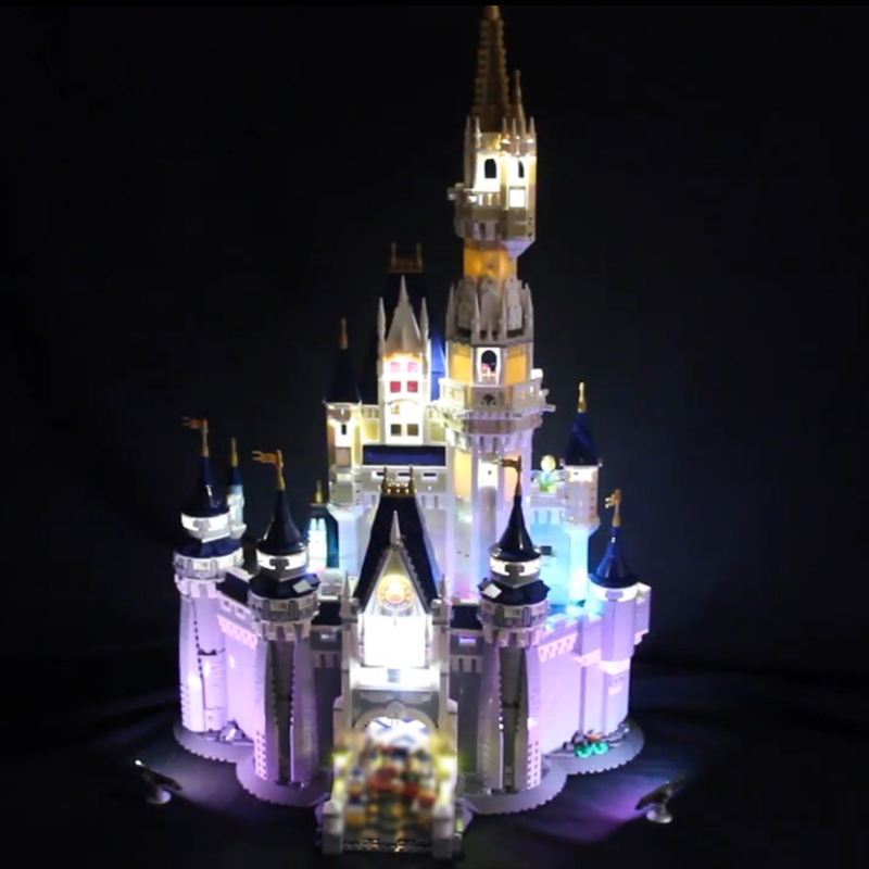 Led Light For Lego 71040 Creative City Cinderella Princess Castle Compatible 16008 Building Blocks Toys (only light+Battery box)