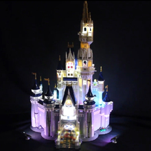 лучшая цена Led Light For Lego 71040 Creative City Cinderella Princess Castle Compatible 16008 Building Blocks Toys (only light+Battery box)